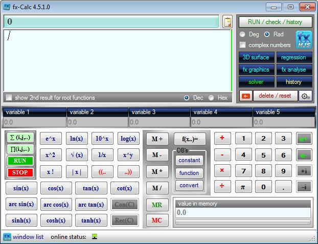 دانلود fx-Calc 4.5.1.0 Final نرم افزار ماشین حساب پیشرفته