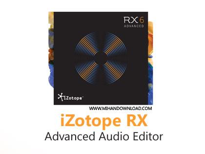 iZotope RX Advanced Audio E دانلود نرم افزار ترمیم و بازسازی فایل های صوتی iZotope RX 6 Audio Editor Advanced v6.10