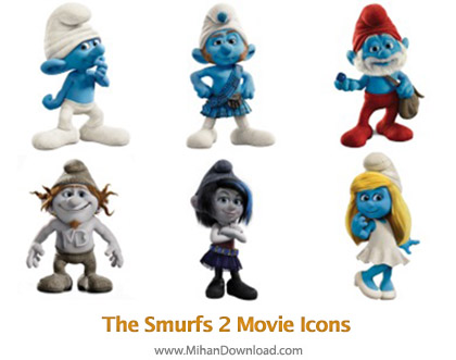 icons 39 The Smurfs 2 Movie Icons0 دانلود آیکون های انیمیشن اسمورف ها Smurfs 2