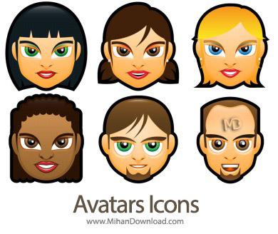 icons 390 avatar icon f دانلود مجموعه شخصیت کاربری های  Avatars Icons
