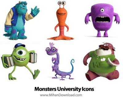 icons 390 دانلود آیکون های انیمیشن دانشگاه هیولا Monsters University Icons