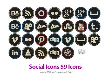 icons 390Social Icons دانلود مجموعه آیکون های زیبای شبکه اجتماعی Social Icons