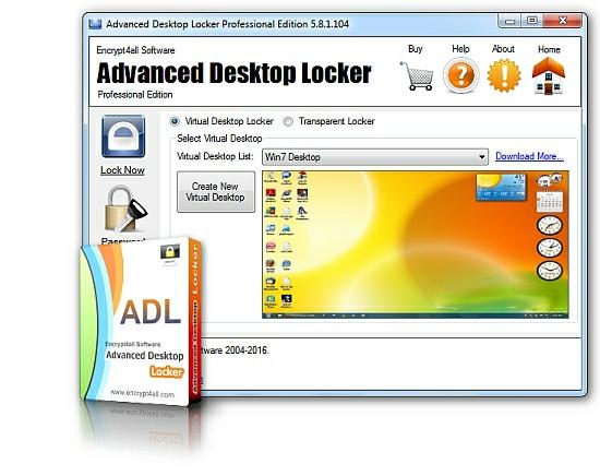 locker دانلود نرم افزار قفل کردن دسکتاپ Advanced Desktop Locker Professioanl Edition v6.0