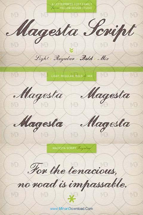 mages دانلود فونت طراحی Magesta Script Font Family