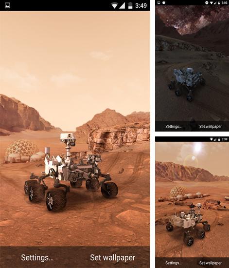 my mars دانلود والپیپر لایو  My Mars مریخ نورد کنجکاوی برای آندروید