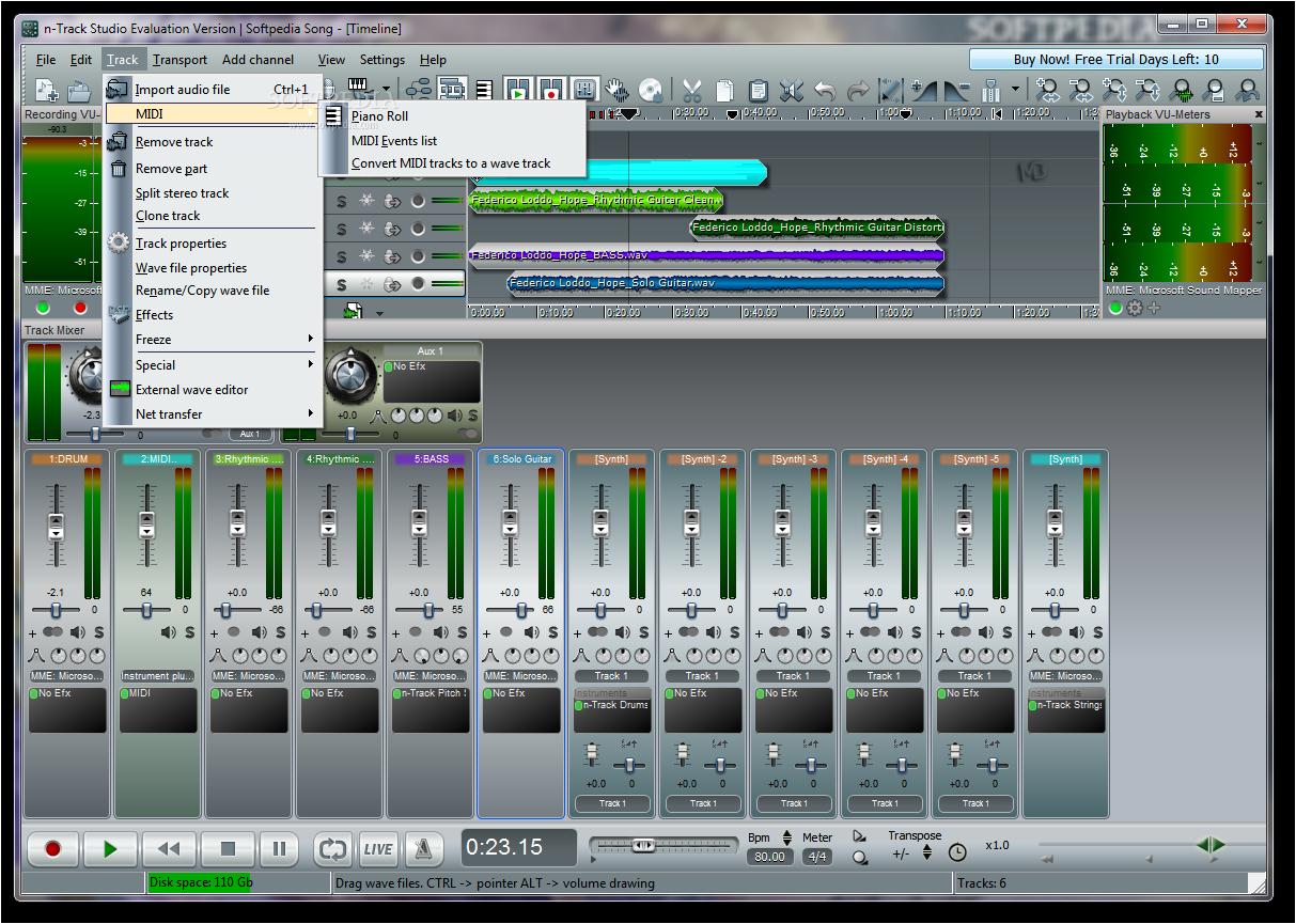 n Track Studio Screenshots1 دانلود n Track Studio 7 0 3 Build 3108 Final نرم افزار ضبط و ویرایش موزیک