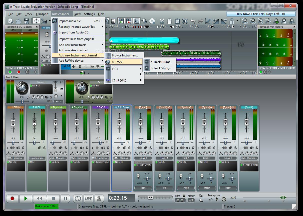 n Track Studio Screenshots3 دانلود n Track Studio 7 0 3 Build 3108 Final نرم افزار ضبط و ویرایش موزیک