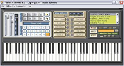 pianofx studio1 نرم افزار پیانو