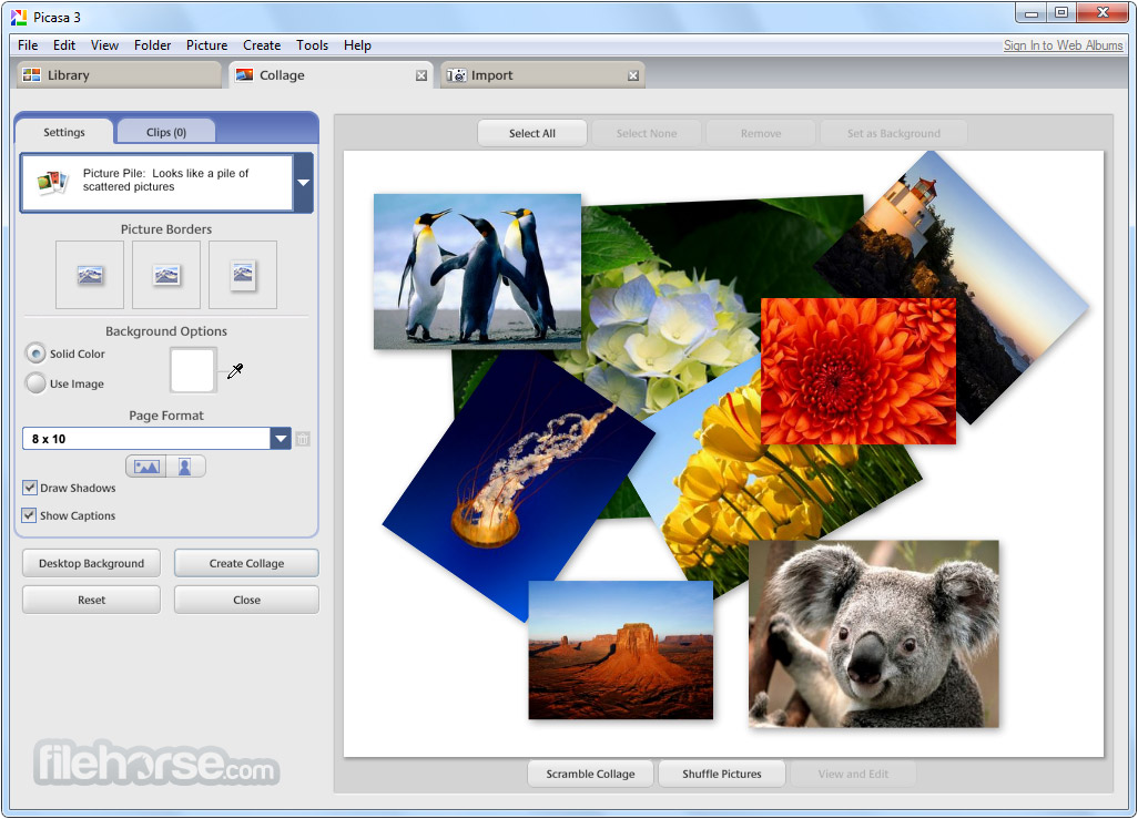 picasa screenshot 03 دانلود Picasa 3.9.0 Build 141.259 نرم افزار مشاهده و ویرایش تصاویر