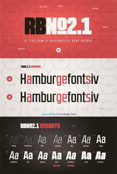 rb دانلود فونت طراحی RBNo2.1 Font Family