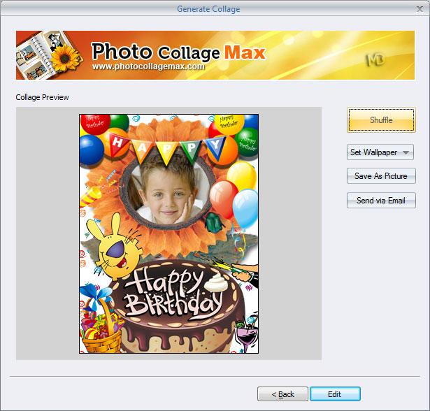 screenshot 3 دانلود Photo Collage Max 2.3.0.8 نرم افزار ویرایش و قرار دادن قاب بر روی تصاویر