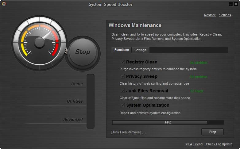 screenshot 32 نرم افزار بهینه ساز System Speed Booster 3 0 8 2