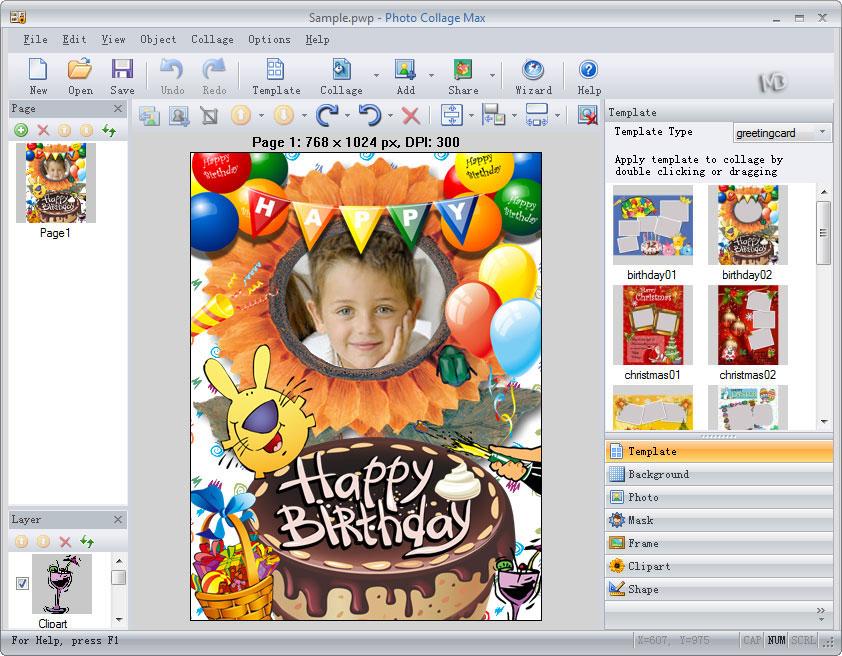 screenshot 4 دانلود Photo Collage Max 2.3.0.8 نرم افزار ویرایش و قرار دادن قاب بر روی تصاویر