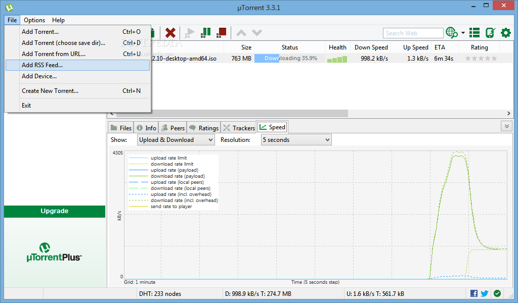 screenshot.%C2%B5Torrent 1 نرم افزار دانلود از تورنت µTorrent Stable 3 4 1 build 31395