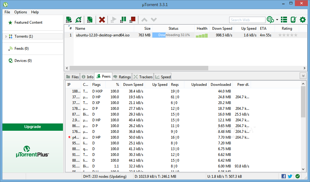 screenshot.%C2%B5Torrent 3 نرم افزار دانلود از تورنت µTorrent Stable 3 4 1 build 31395
