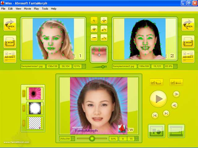 screenshot.Abrosoft.FantaMorph.Deluxe 3 نرم افزار تغییر چهره افراد Abrosoft FantaMorph Deluxe 5 4 4
