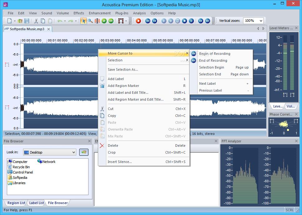 screenshot.Acoustica Premium Edition 1 نرم افزار ویرایش فایل صوتی Acoustica Premium Edition 6 0 14