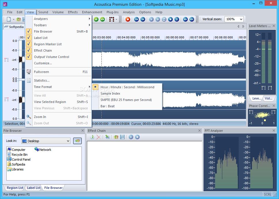 screenshot.Acoustica Premium Edition 2 نرم افزار ویرایش فایل صوتی Acoustica Premium Edition 6 0 14