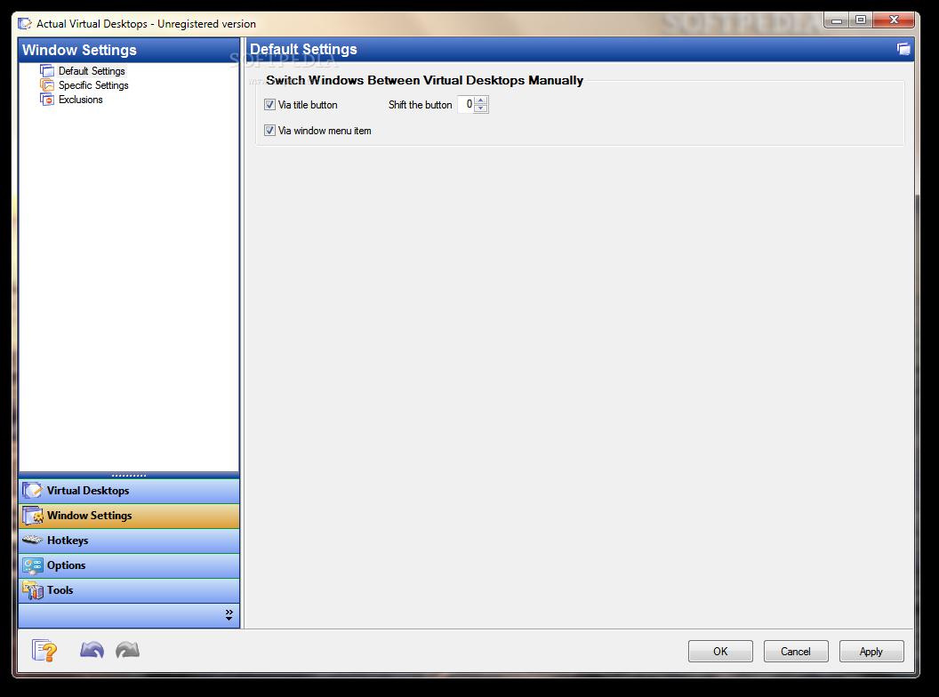 screenshot.Actual.Virtual.Desktops 1 نرم افزار ایجاد چندین دسکتاپ مجازی Actual Virtual Desktops 8 1 2