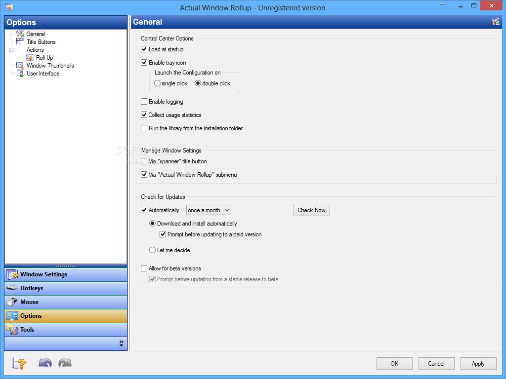 screenshot.Actual.Window.Rollup.1 نرم افزار مدیریت پنجره های ویندوز Actual Window Rollup 8 1 3
