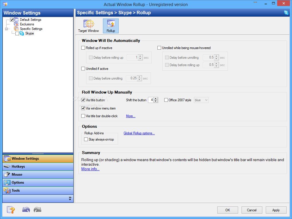 screenshot.Actual.Window.Rollup.2 نرم افزار مدیریت پنجره های ویندوز Actual Window Rollup 8 1 3