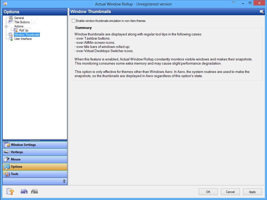 screenshot.Actual.Window.Rollup.3 نرم افزار مدیریت پنجره های ویندوز Actual Window Rollup 8 1 3