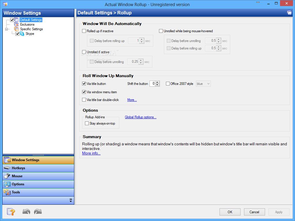 screenshot.Actual.Window.Rollup.4 نرم افزار مدیریت پنجره های ویندوز Actual Window Rollup 8 1 3