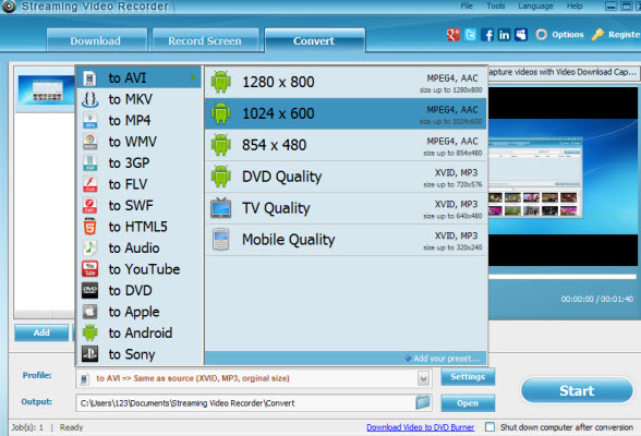 screenshot.Apowersoft.Streaming.Video .Recorder 1 نرم افزار دانلود فیلم های آنلاین Apowersoft Streaming Video Recorder 4 8 5