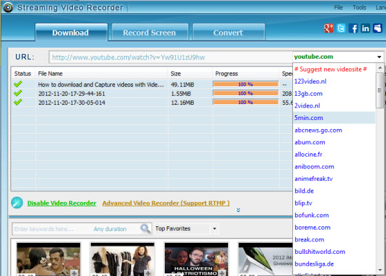 screenshot.Apowersoft.Streaming.Video .Recorder 3 نرم افزار دانلود فیلم های آنلاین Apowersoft Streaming Video Recorder 4 8 5