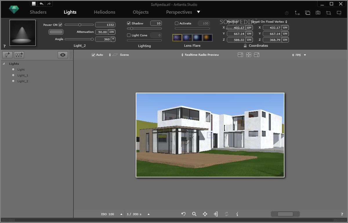 screenshot.Artlantis.Studio 1 نرم افزار طراحی سه بعدی نمای داخل و خارج ساختمان Artlantis Studio 5 1 2 4