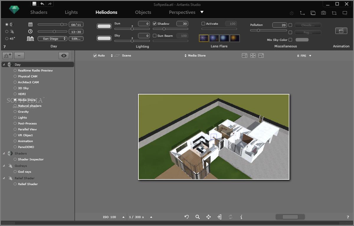 screenshot.Artlantis.Studio 2 نرم افزار طراحی سه بعدی نمای داخل و خارج ساختمان Artlantis Studio 5 1 2 4