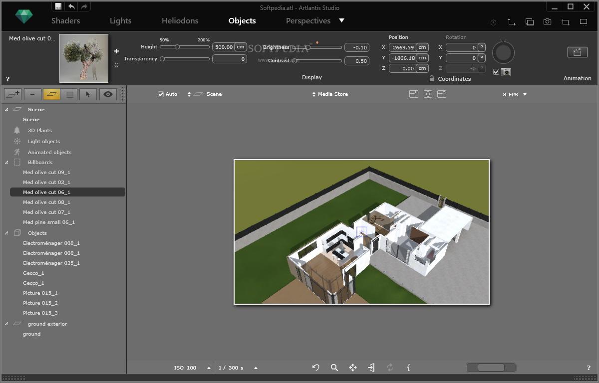 screenshot.Artlantis.Studio 3 نرم افزار طراحی سه بعدی نمای داخل و خارج ساختمان Artlantis Studio 5 1 2 4