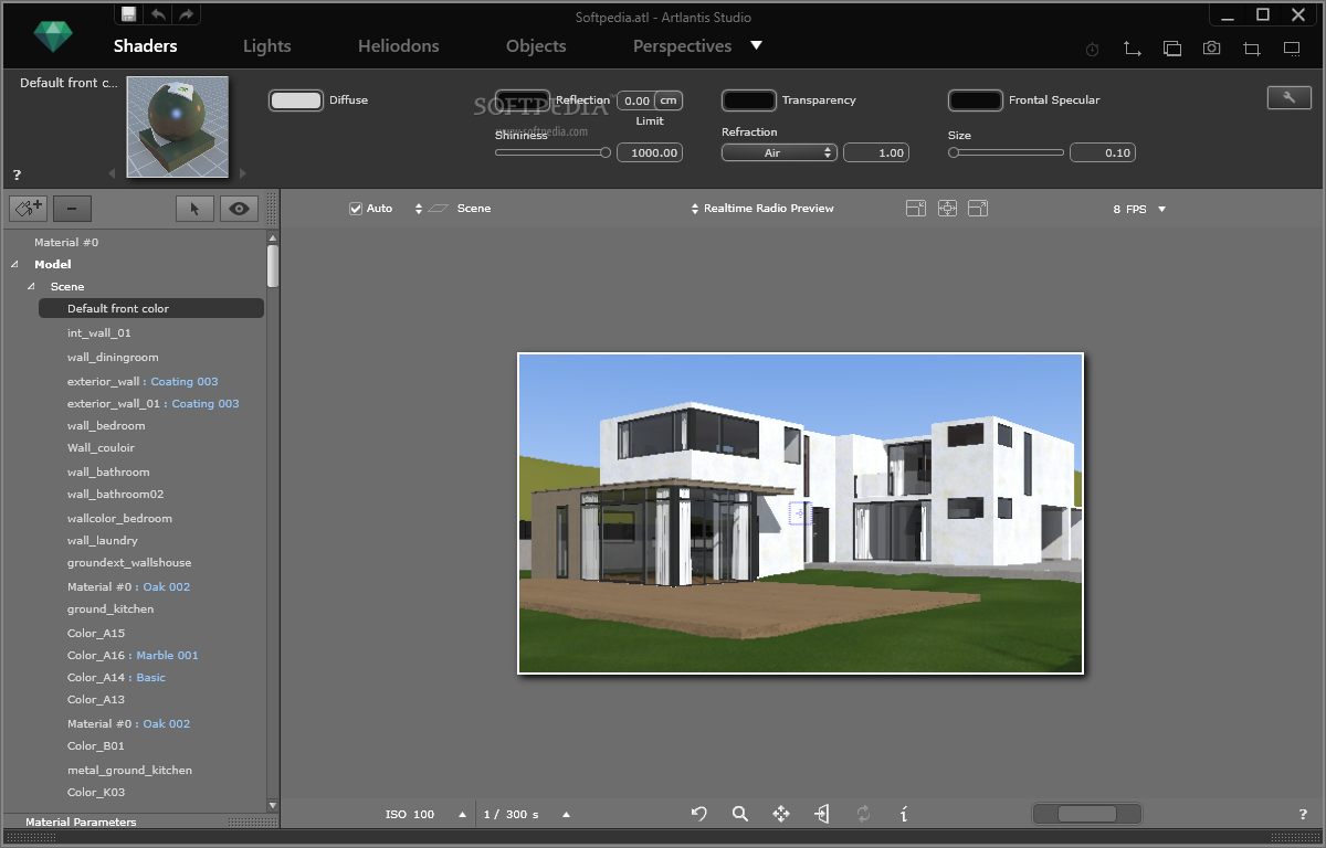 screenshot.Artlantis.Studio 4 نرم افزار طراحی سه بعدی نمای داخل و خارج ساختمان Artlantis Studio 5 1 2 4