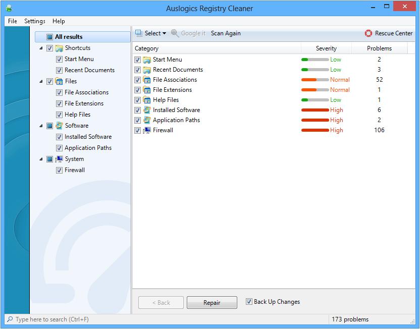screenshot.Auslogics.Registry.Cleaner دانلود Auslogics Registry Cleaner 3 4 2 0 Final نرم افزار پاکسازی رجیستری