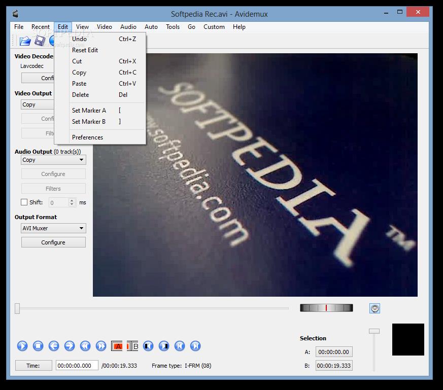 screenshot.AviDemux.3 نرم افزار ویرایش فایلهای ویدئویی AviDemux 2 6 8 9046