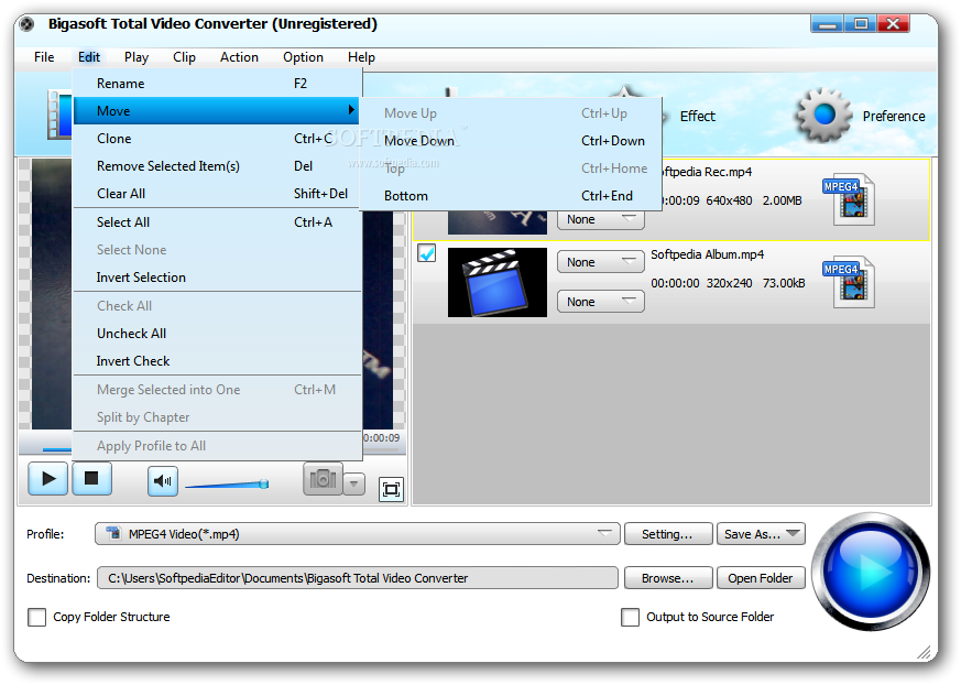 screenshot.Bigasoft.Total .Video .Converter 2 دانلود Bigasoft Total Video Converter 5.0.8.5809 نرم افزار تبدیل فایل های ویدئویی
