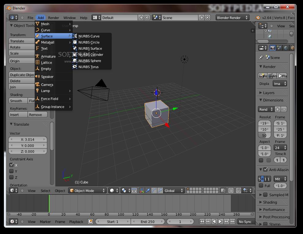 screenshot.Blender 1 نرم افزار ساخت انیمیشن های 3 بعدی Blender 2 70