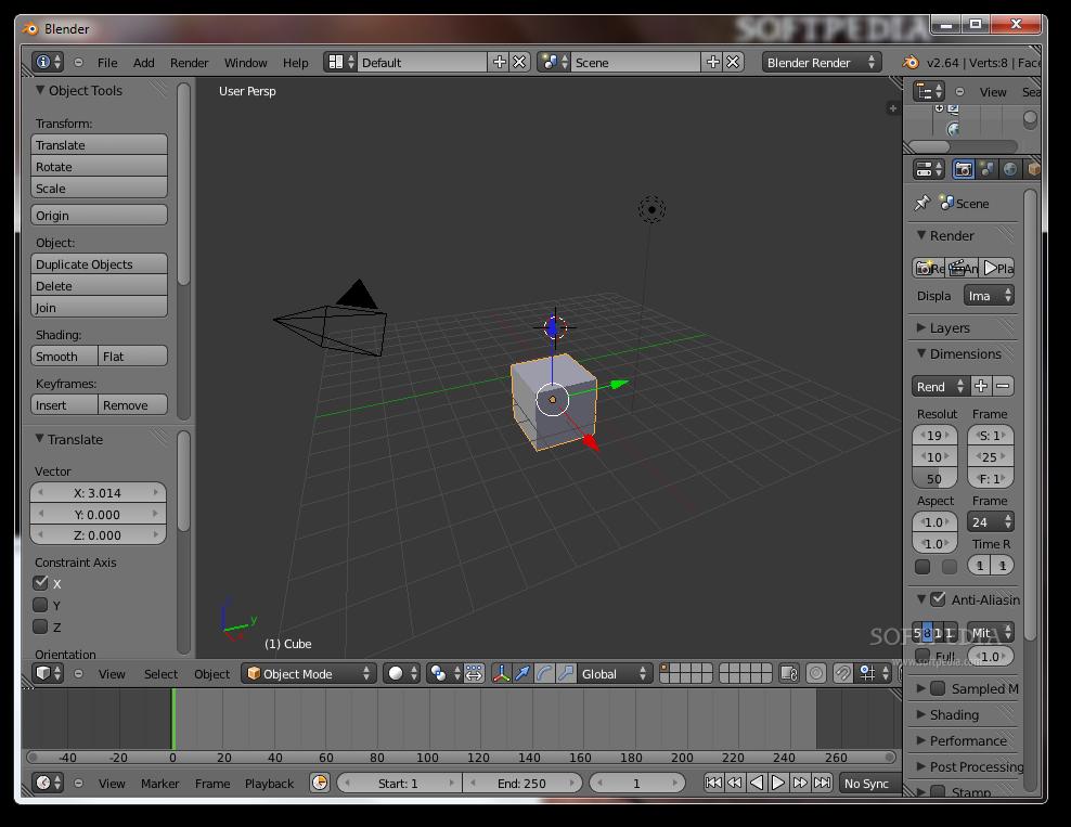 screenshot.Blender 2 نرم افزار ساخت انیمیشن های 3 بعدی Blender 2 70