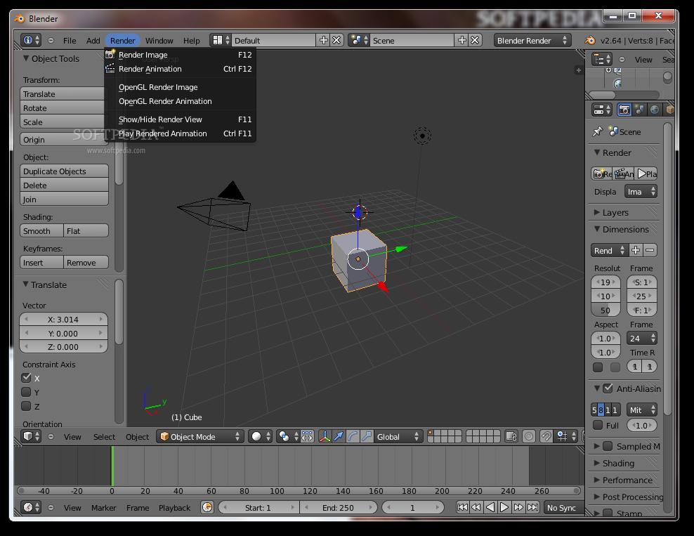 screenshot.Blender 3 نرم افزار ساخت انیمیشن های 3 بعدی Blender 2 70