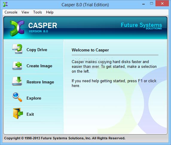 screenshot.Casper 2 نرم افزار پشتیبان گیری Casper / Secure Drive Backup 8 0 4422 / 4 0 4422 Retail