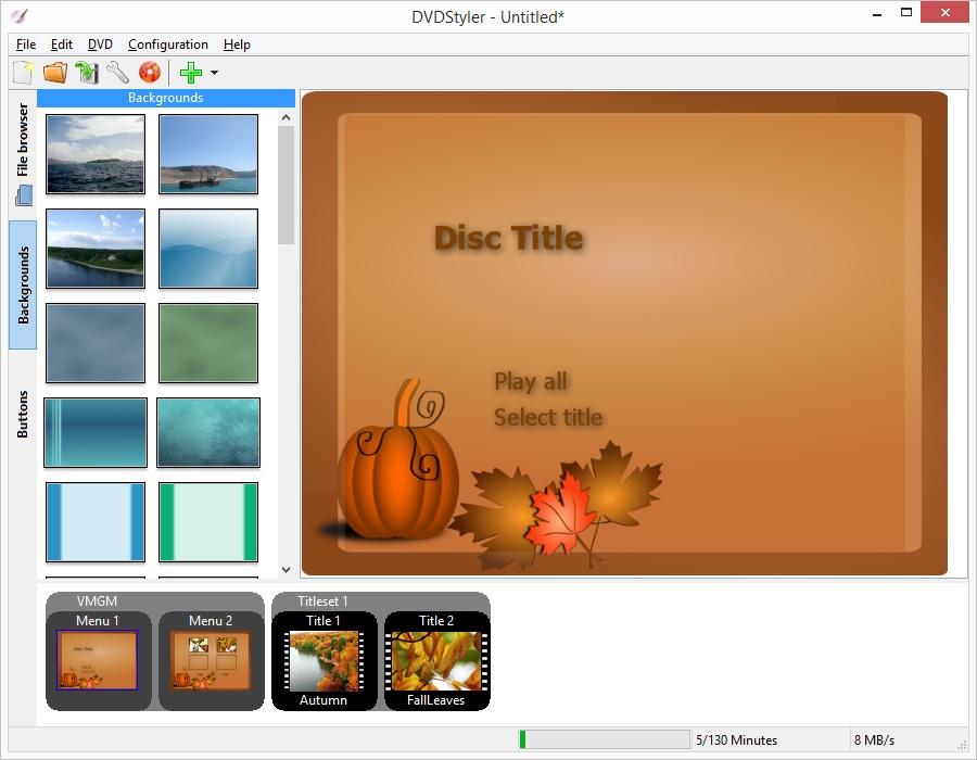 screenshot.DVDStyler 2 نرم افزار ساخت منوی دی وی دی DVDStyler 2 7 2 Final