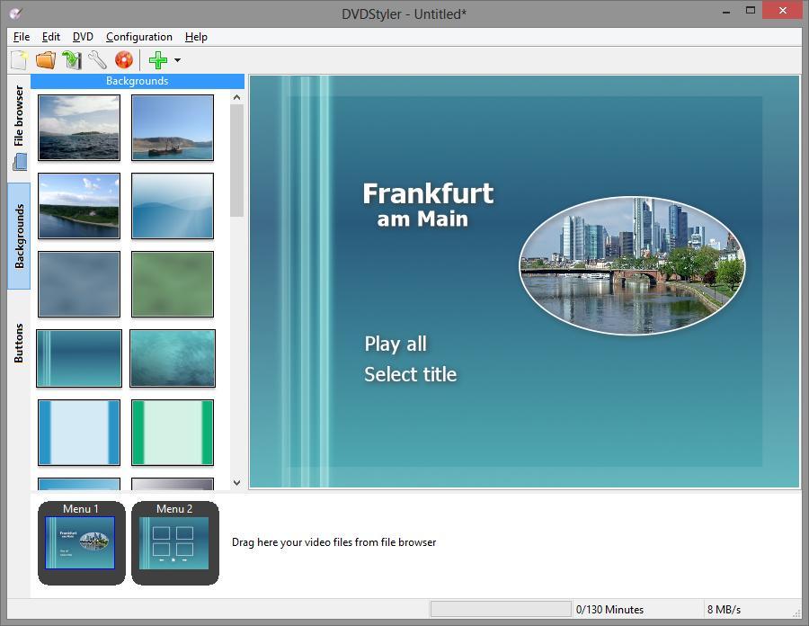 screenshot.DVDStyler 3 نرم افزار ساخت منوی دی وی دی DVDStyler 2 7 2 Final