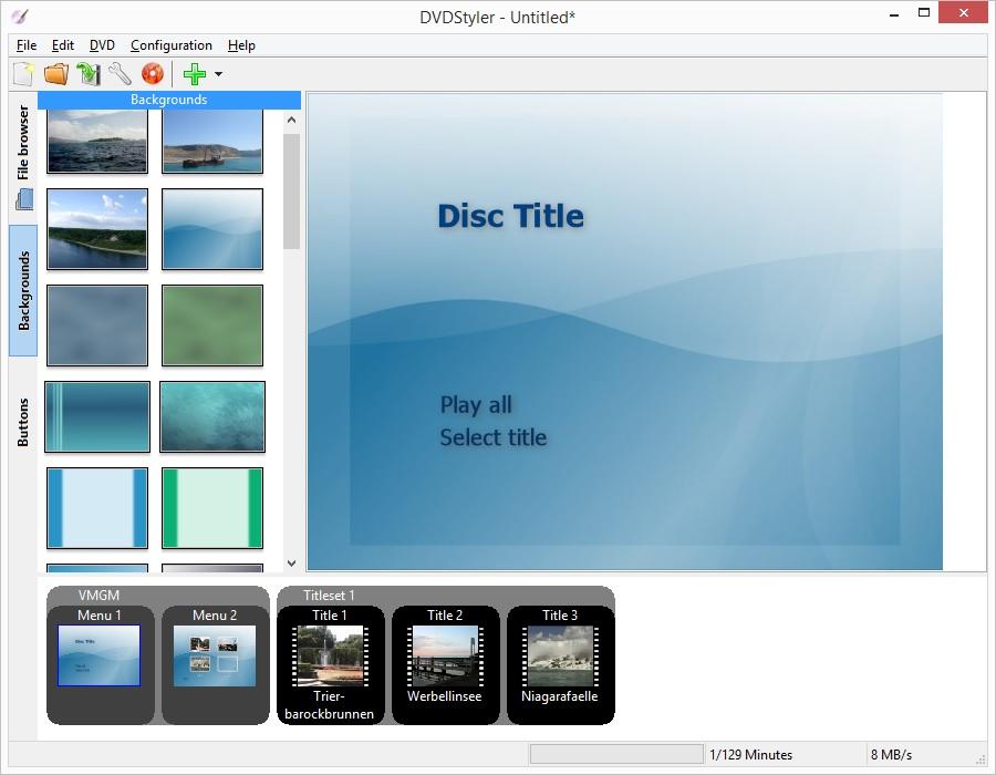 screenshot.DVDStyler 4 نرم افزار ساخت منوی دی وی دی DVDStyler 2 7 2 Final