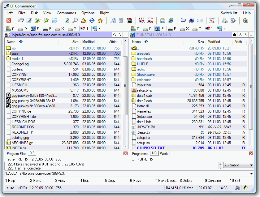 screenshot.EF .Commander مدیریت فایل ها در ویندوز EF Commander 9 80