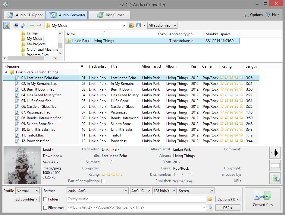 screenshot.EZ CD Audio Converter 2 نرم افزار تبدیل فایل صوتی EZ CD Audio Converter 2 1 1 1