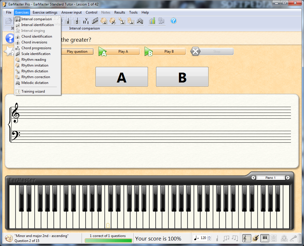 screenshot.EarMaster.1 نرم افزار آموزش از طریق شنوایی EarMaster Pro 6 1 Build 624PW