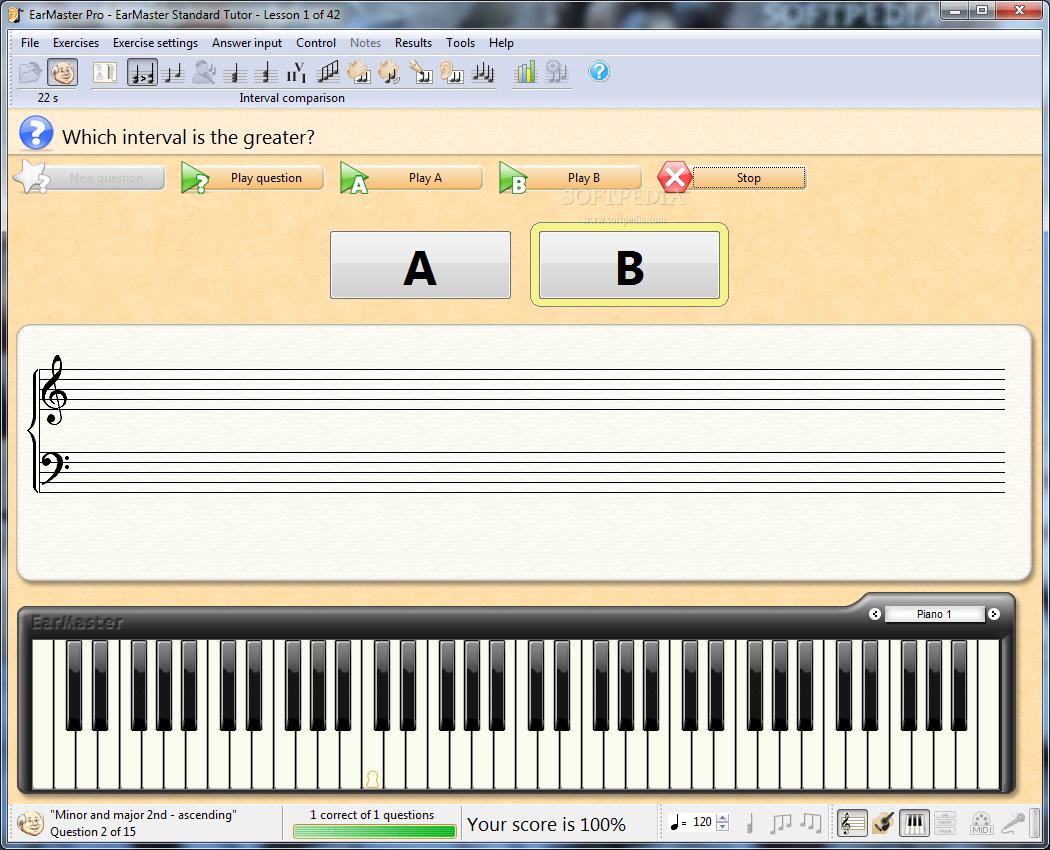 screenshot.EarMaster.3 نرم افزار آموزش از طریق شنوایی EarMaster Pro 6 1 Build 624PW