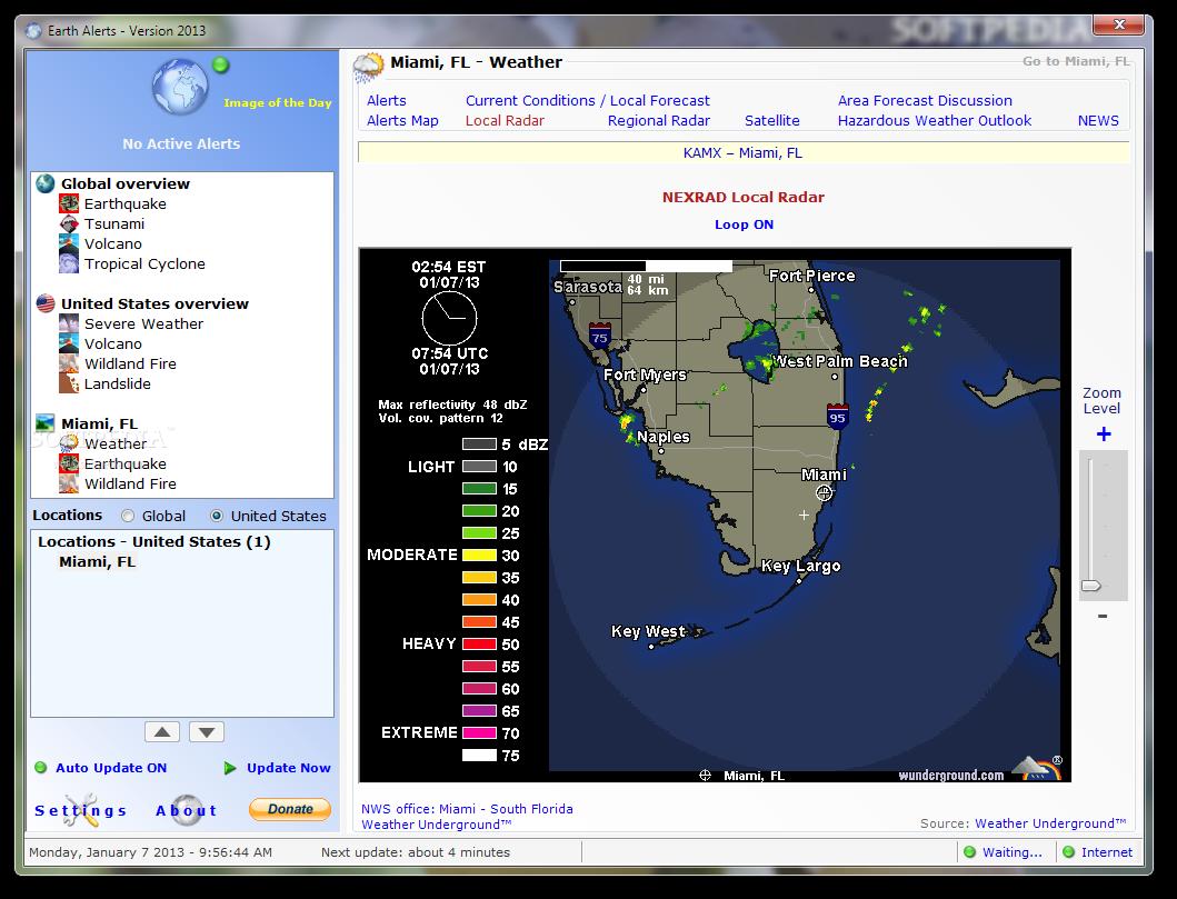 screenshot.Earth .Alerts 11 دانلود Earth Alerts 2014.1.160 نرم افزار پیش بینی حوادث طبیعی