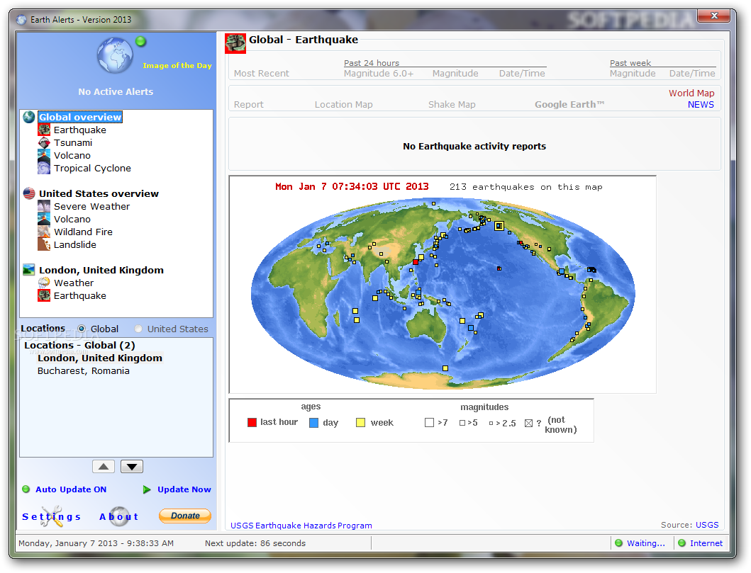 screenshot.Earth .Alerts 21 دانلود Earth Alerts 2014.1.160 نرم افزار پیش بینی حوادث طبیعی