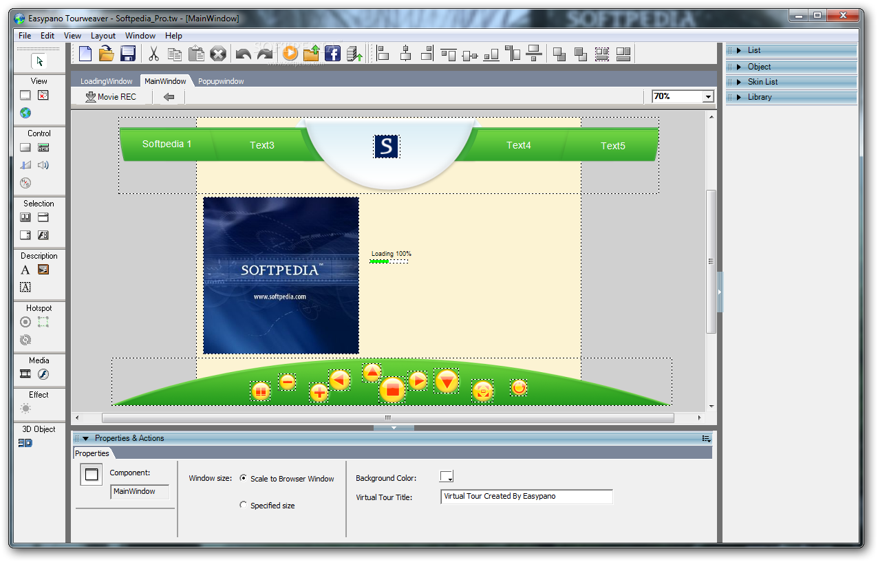 screenshot.Easypano.Tourweaver.Professional نرم افزار ساخت عکس 360 درجه  Easypano Tourweaver Professional 7 70 140305